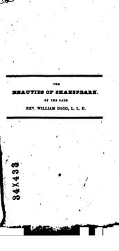 Cover of: The beauties of Shakspeare regularly selected from each play | William Shakespeare