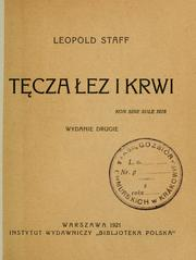 Cover of: Tcza ez i krwi by Leopold Staff