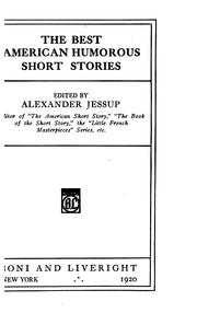 Cover of: The best American humorous short stories | Alexander Jessup