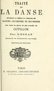 Cover of: Traité de la dance | G Desrat