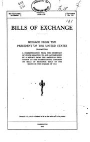 Cover of: Bills of exchange | United States. Delegation to the International conference on bills of exchange, The Hague, 1912
