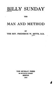 Cover of: Billy Sunday, the man and method | Frederick William Betts