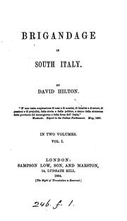 Cover of: Brigandage in south Italy by David Hilton Wheeler