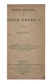 Cover of: British colonies in North America | Society for promoting Christian knowledge, London