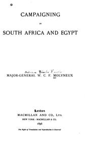 Cover of: Campaigning South Africa and Egypt | William Charles Francis Molyneux