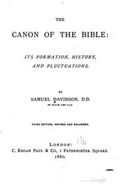 Cover of: The canon of the Bible | Samuel Davidson