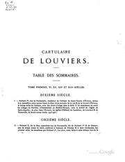 Cover of: Cartulaire de Louviers | Théodose Bonnin