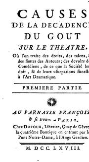 Cover of: Causes de la decadence du gout sur le theatre | Louis Charpentier