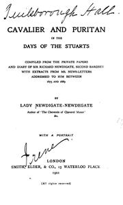 Cover of: Cavalier and Puritan in the days of the Stuarts | Anne Emily (Garnier) lady Newdigate-Newdegate