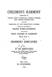 Cover of: Children's harmony | Frank Hartson Shepard