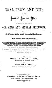 Cover of: Coal, iron, and oil | Samuel Harries Daddow