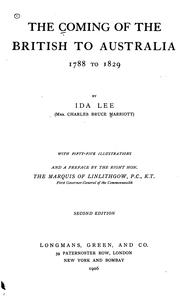 Cover of: The coming of the British to Australia | Marriott, Ida (Lee) Mrs