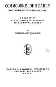 Cover of: Commodore John Barry | William Barry Meany