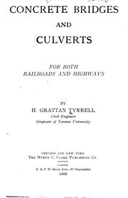 Cover of: Concrete bridges and culverts | Henry Grattan Tyrrell