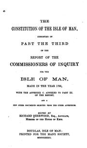 Cover of: The constitution of the Isle of Man | Great Britain. Commissioners of inquiry for the Isle of Man.