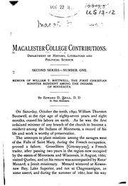 Cover of: Contributions | Macalester college, St. Paul, Minn.