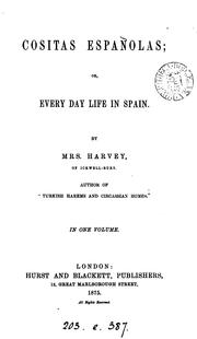 Cover of: Cositas españolas | Andrée Hope