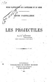 Cover of: Cours d'artillerie by E. Jouffret