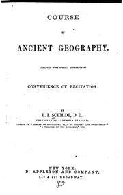 Cover of: Course of ancient geography | Henry Immanuel Schmidt