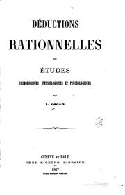 Cover of: Déductions rationnelles | L. Oscar