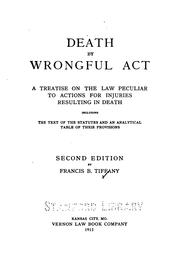 Cover of: Death by wrongful act | Francis Buchanan Tiffany