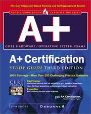 Cover of: A+ Certification Study Guide by Syngress Media