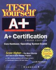 Cover of: Test Yourself A+ Certification by Pawan K. Bhardwaj