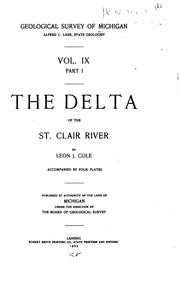 Cover of: The delta of the St. Clair River by Leon Jacob Cole
