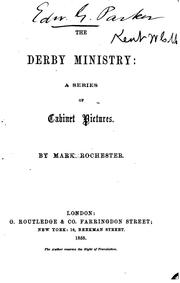 Cover of: The Derby ministry | William Charles Mark Kent