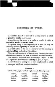 Cover of: Derivation of words, with exercises on prefixes, suffixes, and stems | Mary Frances Hyde