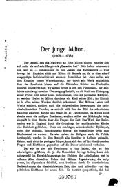 Cover of: Der junge Milton | Theodor Pesta