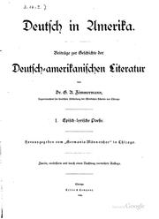 Cover of: Deutsch in Amerika | Gustav Adolf Zimmermann