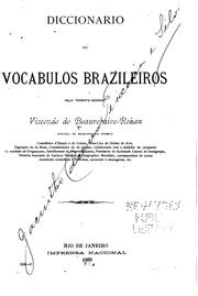 Cover of: Diccionario de vocabulos brazileiros | Beaurepaire, Henrique de Beaurepaire Rohan visconde de