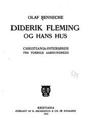 Cover of: Diderik Fleming og hans hus | Olaf Benneche