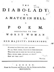 Cover of: The diabo-lady | William Combe