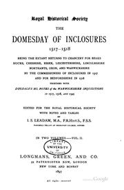 Cover of: The domesday of inclosurs | Great Britain. Commissioners of inclosures