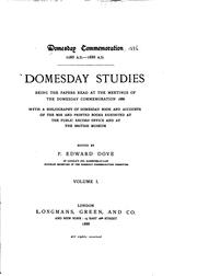 Cover of: Domesday studies | Domesday commemoration, 1086 A. D. 1886 A. D.