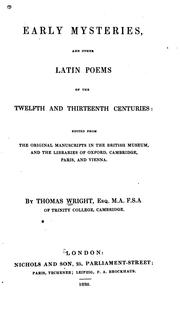 Cover of: Early mysteries | Wright, Thomas