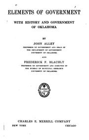 Cover of: Elements of government | John Alley