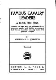 Cover of: Famous cavalry leaders | Charles Haven Ladd Johnston