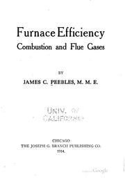 Cover of: Furnace efficiency | James C. Peebles