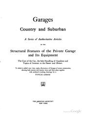 Cover of: Garages, country and suburban | American architect and Architecture