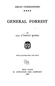 Cover of: General Forrest by Mathes, James Harvey