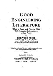 Cover of: Good engineering literature | Harwood Frost