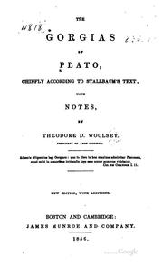 Cover of: The Gorgias of Plato, chiefly according to Stallbaum's text | Plato