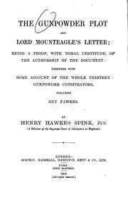 Cover of: The gunpowder plot and Lord Mounteagle's letter | Spink, Henry Hawkes jr