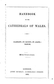 Cover of: Handbook to the cathedrals of Wales | Richard John King