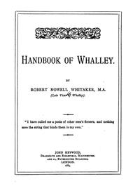 Cover of: Handbook of Whalley | Robert Nowell Whitaker