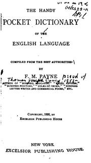 Cover of: The handy pocket dictionary of the English language | Thomas Joseph Carey