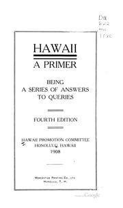 Cover of: Hawaii | Hawaii promotion committee, Honolulu